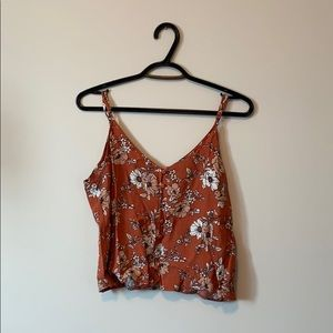 Forever 21 floral crop blouse